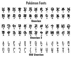 Pokemon Unovian Fonts