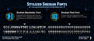 Breath of the Wild - Stylized Sheikah Fonts by CalicoStonewolf