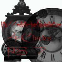 Clock brushes by metallic-heart