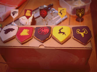 Game of Thrones Cookies by The-Ribboned-One