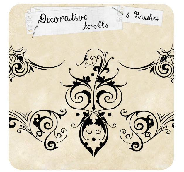 Decorative Scrolls by tiffcali06
