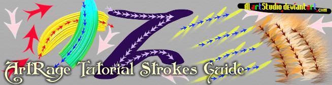 Sticker Spray Strokes Guide. ArtRage by alartstudio