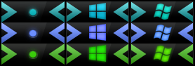 Arrow Button Orbs StartIsBack Win8 and 8.1 by Jarminx