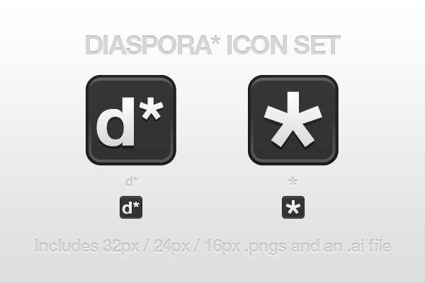 Diaspora Icon Set