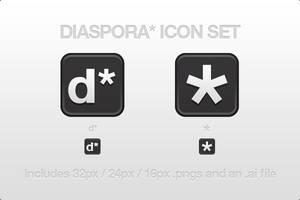 Diaspora Icon Set by CreativeKaizen
