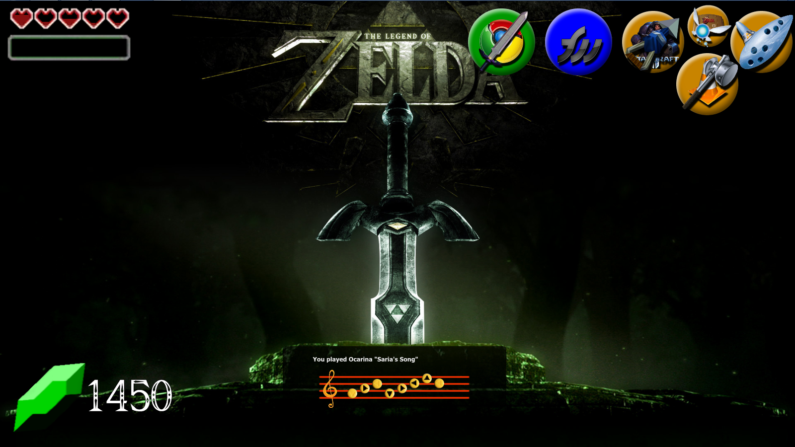 Zelda Theme for Rainmeter 1.0 by Zincathion