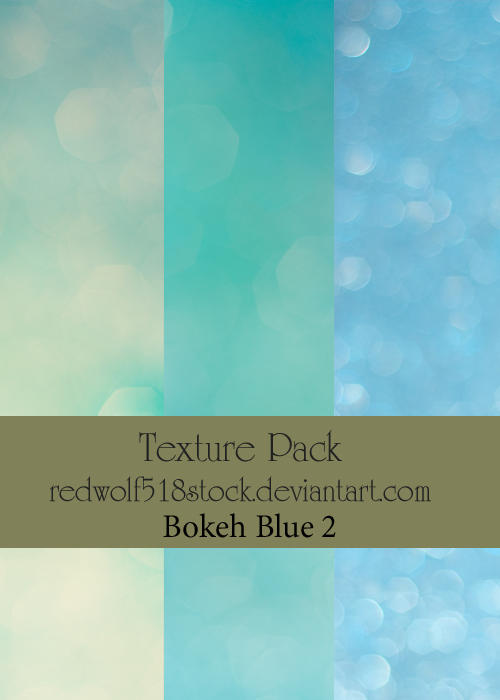 Texture Pack Bokeh Blue 2 by redwolf518stock