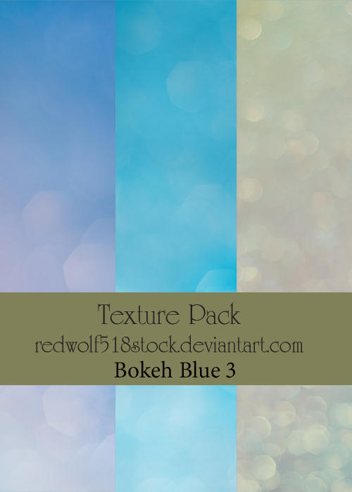 Texture Pack Bokeh Blue 3 by redwolf518stock