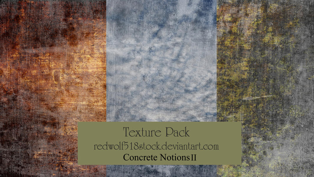 Concrete Notions Texture Pack II by redwolf518stock