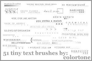 Tiny Text Brushes 2