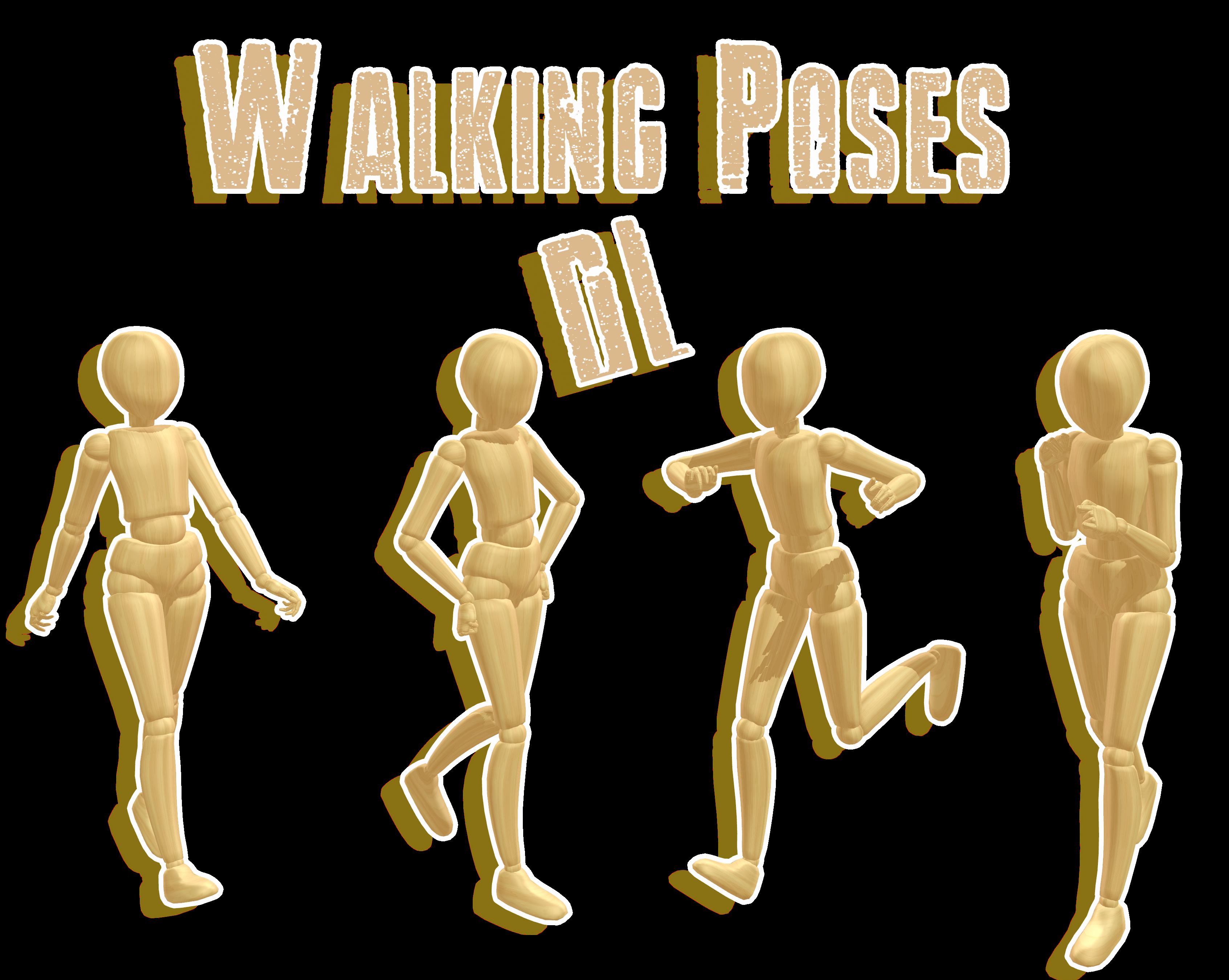 .:: MMD Walking pose pack ::. DL by MMDMikuxLen