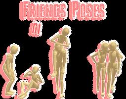 .:: MMD - Friends Poses ::. DL by MMDMikuxLen