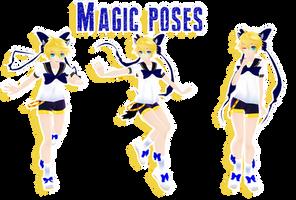 MMD - magic poses DL by MMDMikuxLen