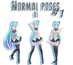 MMD - Normal poses #1 DL