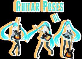 guitar poses[By MMDMikuXLen] by MMDMikuxLen