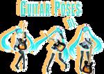 guitar poses[By MMDMikuXLen]