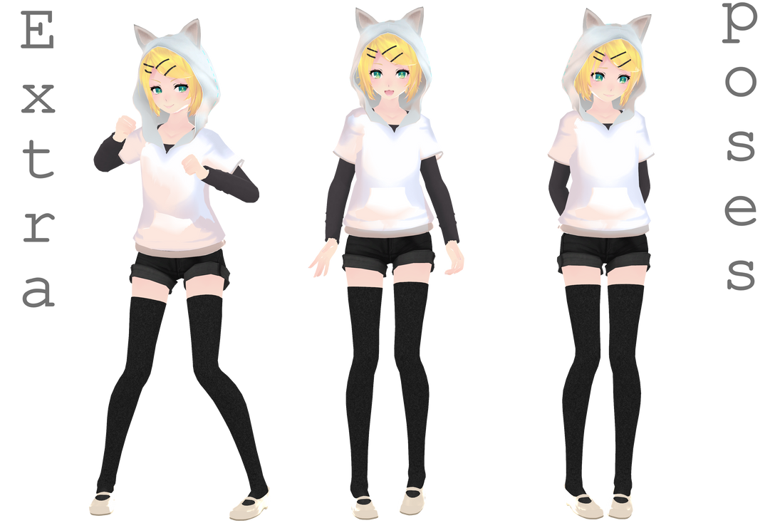 [MMD] Extra poses - DL by MMDMikuxLen