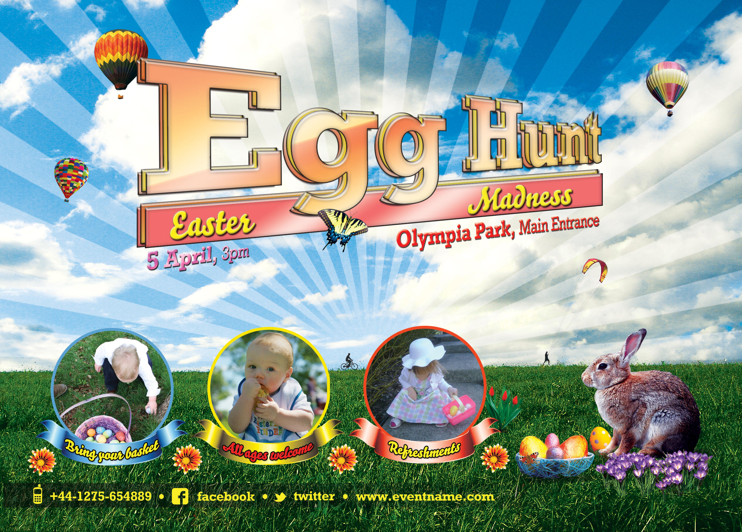 ... Egg Hunt Easter Flyer Template   Free PSD By Silentmojo