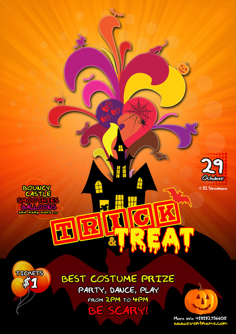Kids Halloween Flyer Template - Free PSD by silentmojo on DeviantArt