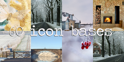 Winter Icon bases by princessloser