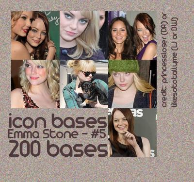 Emma Stone Bases - Set 5 by princessloser