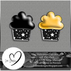 Starry Mini Halloween Cupcakes