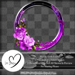 LD-bloody goth rose frame-PU set