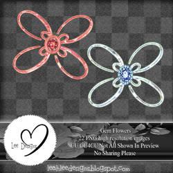 Abstract Gem Flower Pack