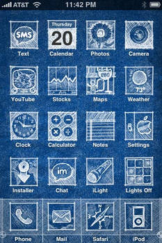 iPhone theme: Blueprint