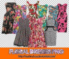Floral Dresses PNG