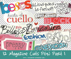 12 Magazine Cuts PNG Part 1 by MyShinyBoy