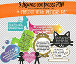 9 figuras con frases PGN