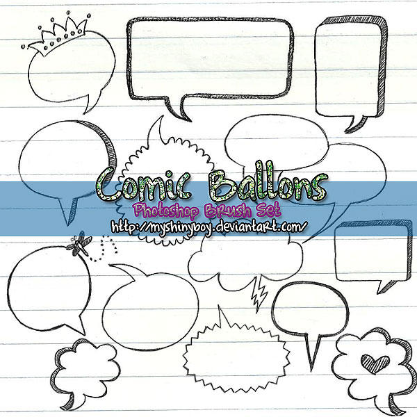 Comic Ballons Brush-Set .2 by MyShinyBoy