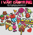I Want Candy PNG
