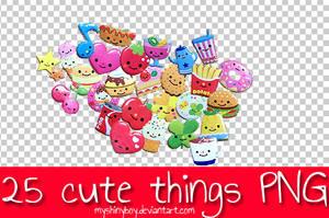 25 Cute Things PNG by MyShinyBoy