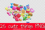 25 Cute Things PNG