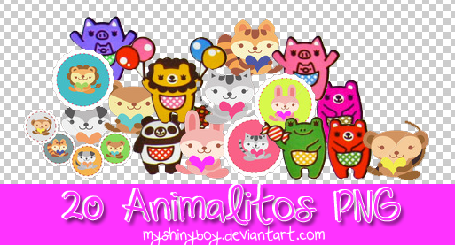 20 Animalitos PNG by MyShinyBoy