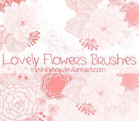 Lovely Flowers Brushes by MyShinyBoy