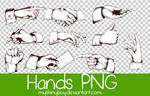 Vintage Hands PNG