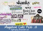 Magazine Cuts PNG .01