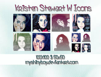 Kristen Stewart W Icons by MyShinyBoy
