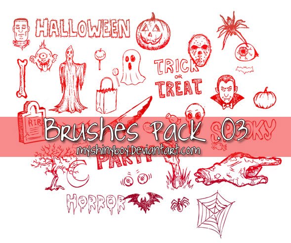 Brushes Pack .03 - Halloween