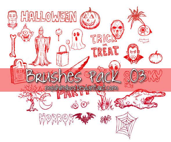 Brushes Pack .03 - Halloween by MyShinyBoy
