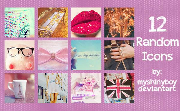12 Random Icons by MyShinyBoy
