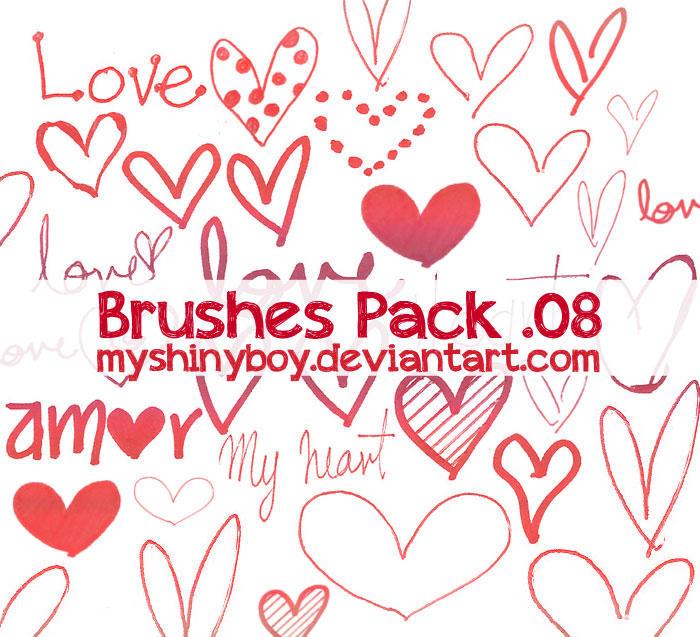 Brushes Pack .08 - Happy Valentines Day by MyShinyBoy