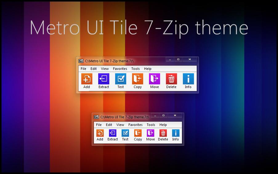 Metro Ui Tile 7 Zip Theme By Alexgal23 On Deviantart