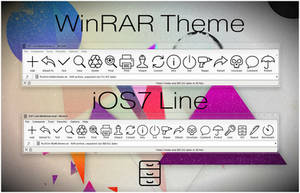 iOS7 Line WinRAR theme by alexgal23