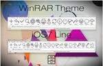 iOS7 Line WinRAR theme