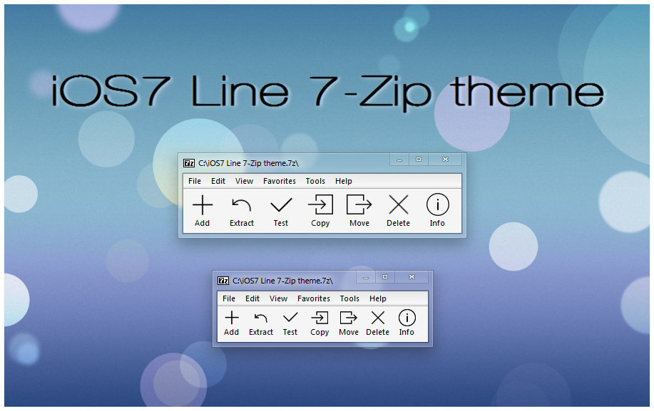 Ios7 Line 7 Zip Theme By Alexgal23 On Deviantart