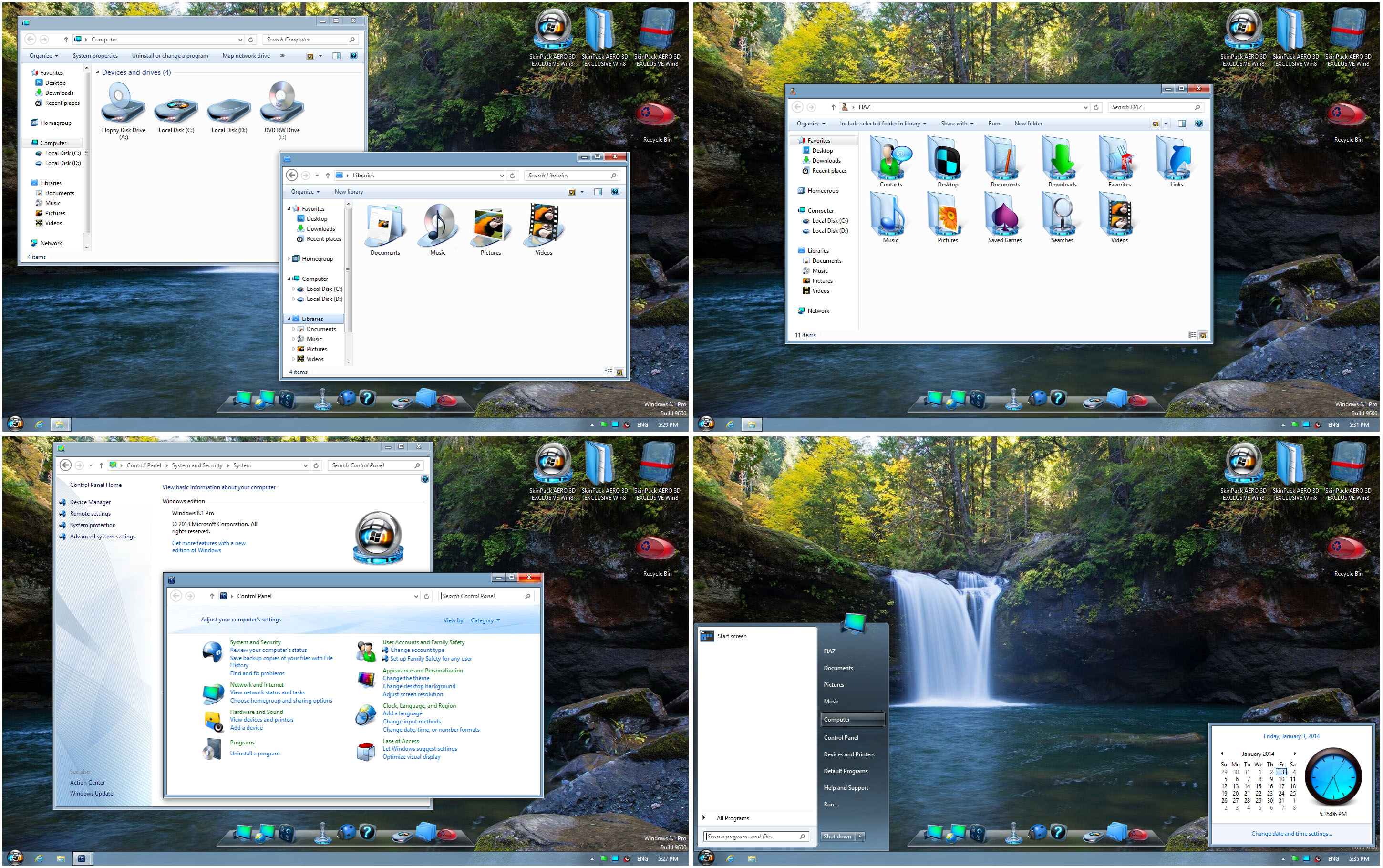 SkinPack AERO 3D EXCLUSIVE Win8 by alexgal23
